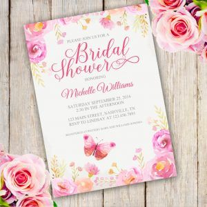 Download And Personalize Your Own Bridal Shower Invitation