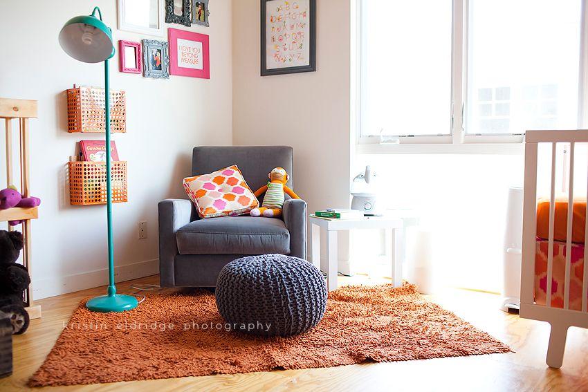 Neon Orange and Pink Nursery | Kristin Eldridge Photography