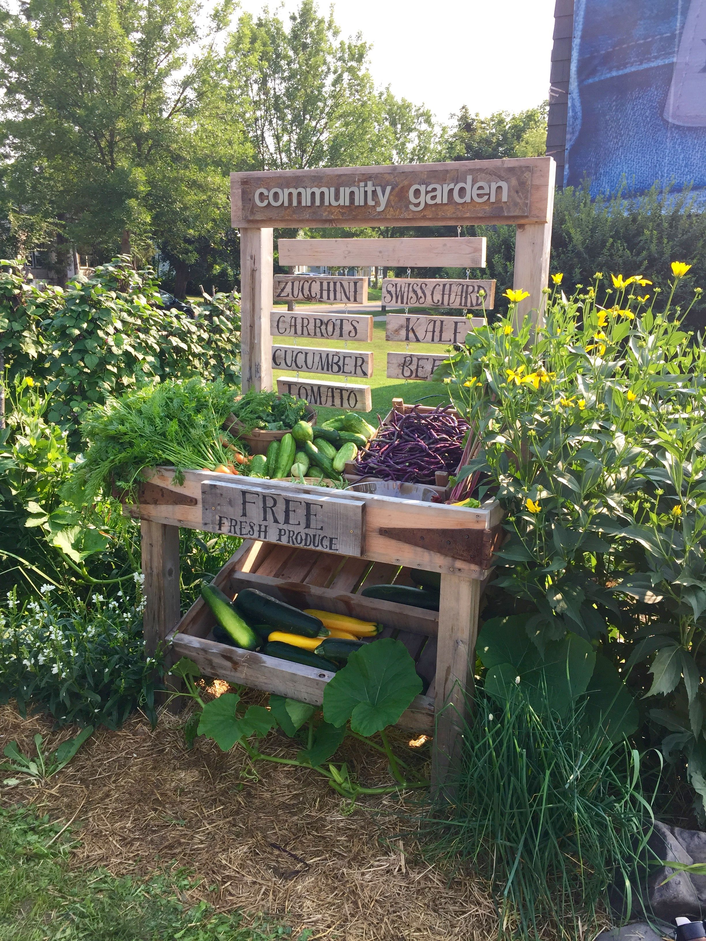 Ana white community garden farm stand diy projects