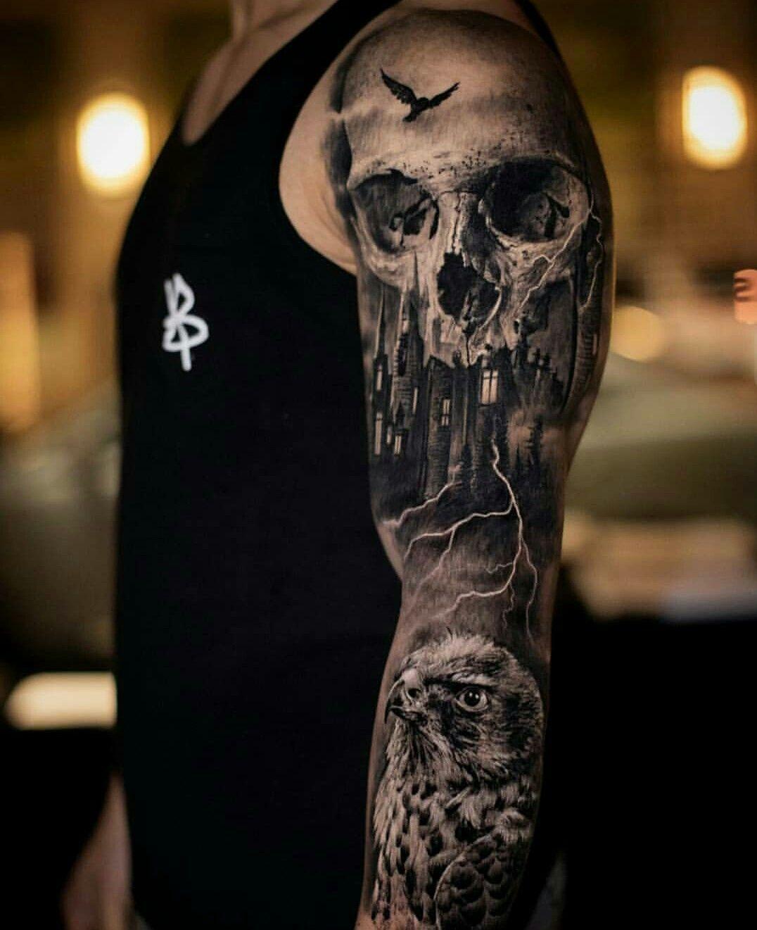 Amazing Tattoos Skull sleeve tattoos, Best sleeve
