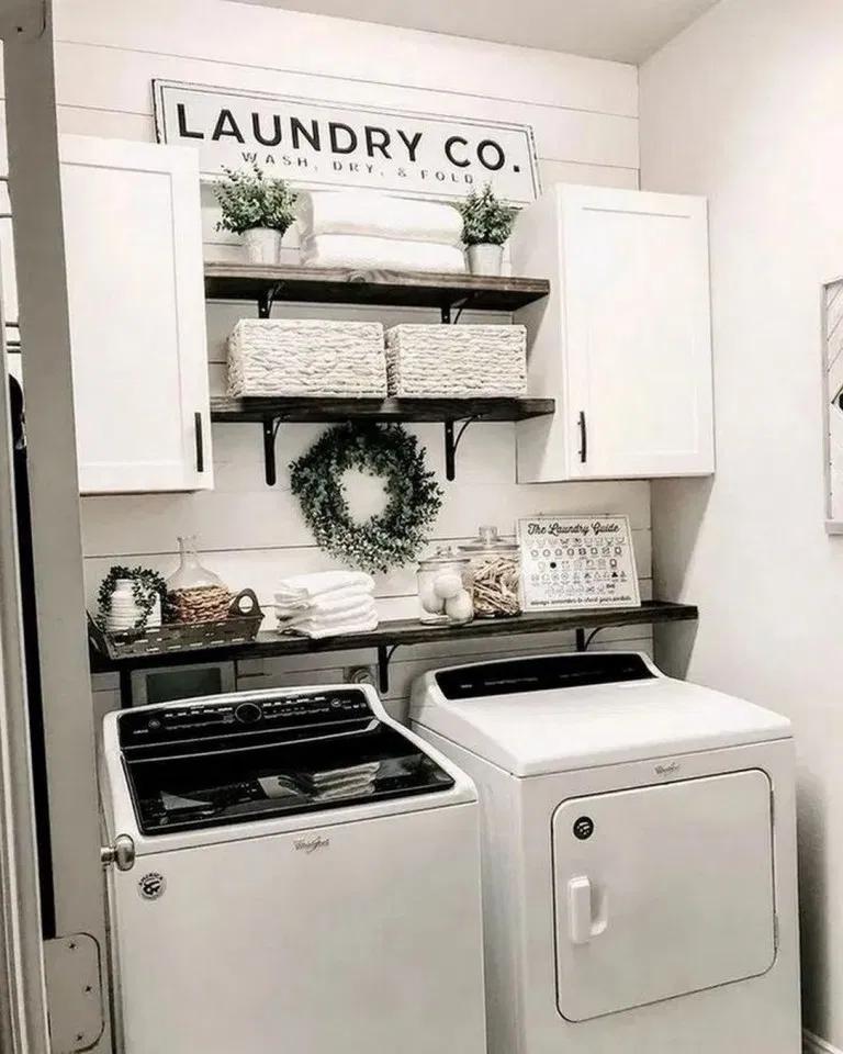 36 Smart Farmhouse Laundry Room Storage Organization Ideas 27 In