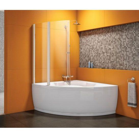 Vasca angolare con doccia interior design pinterest small bathroom and interiors - Vasca da bagno angolare prezzi ...