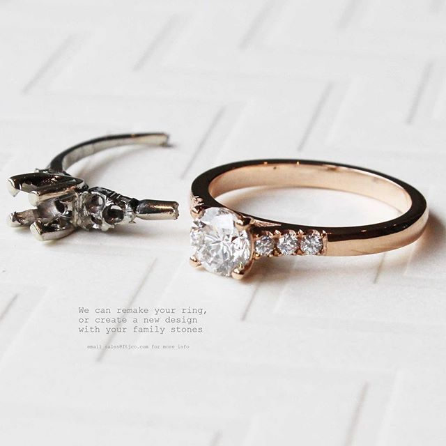 Remake Redesign Reuse Make Something Old Into Something New Ftjco Rosegold 18k Redesign Familyring Remak Heirloom Rings Family Rings Heirlooms Jewelry
