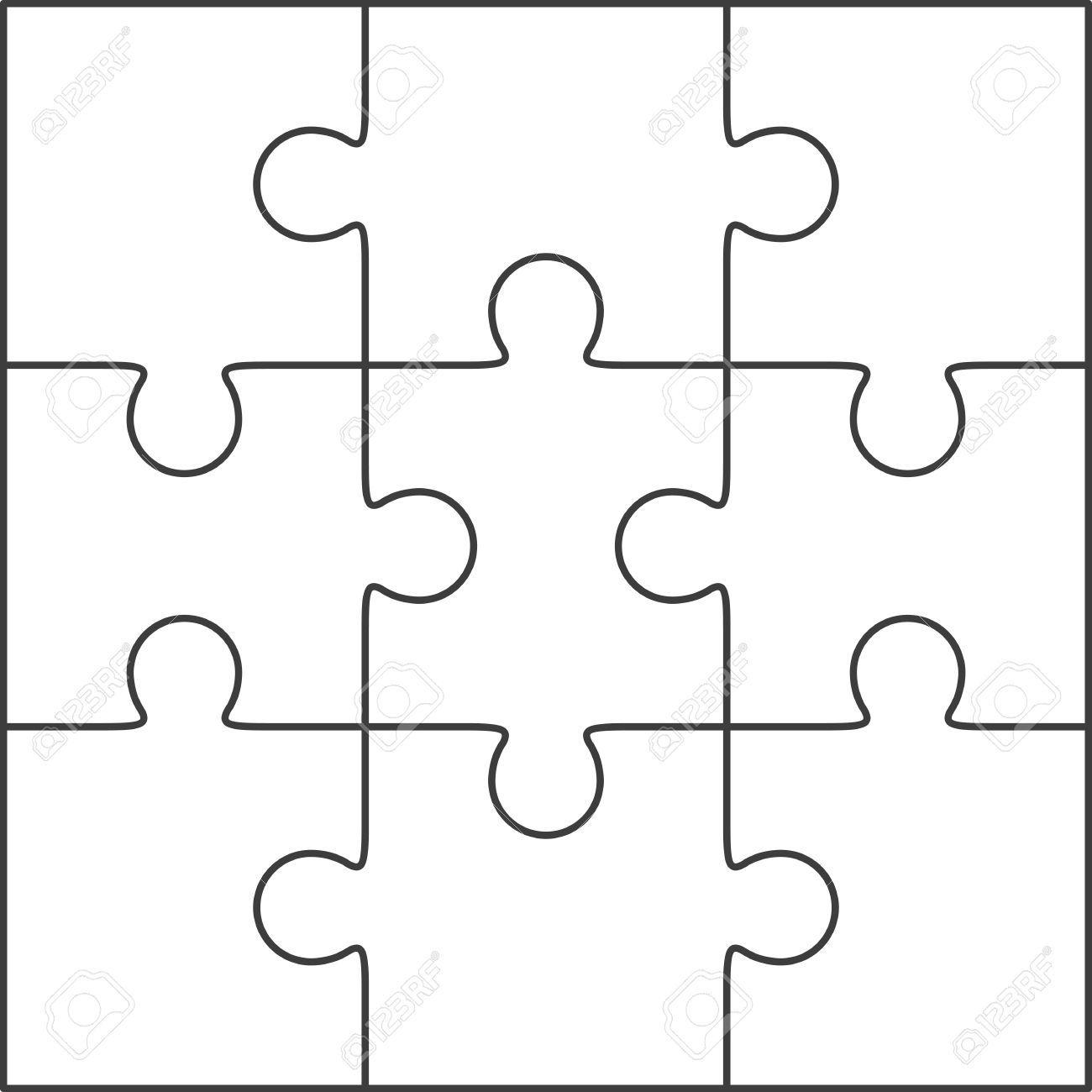 40829428-Jigsaw-Puzzle-Vektor-leere-einfache-Vorlage-3x3 ...