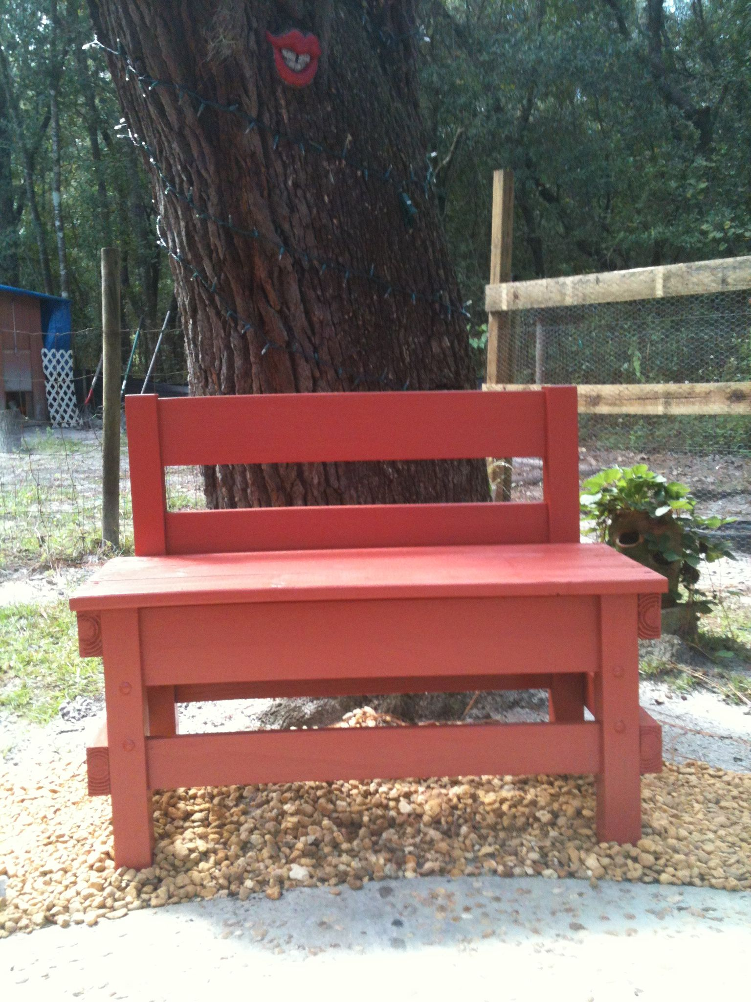 Outdoor bench made from twin bed frame (With images) Diy
