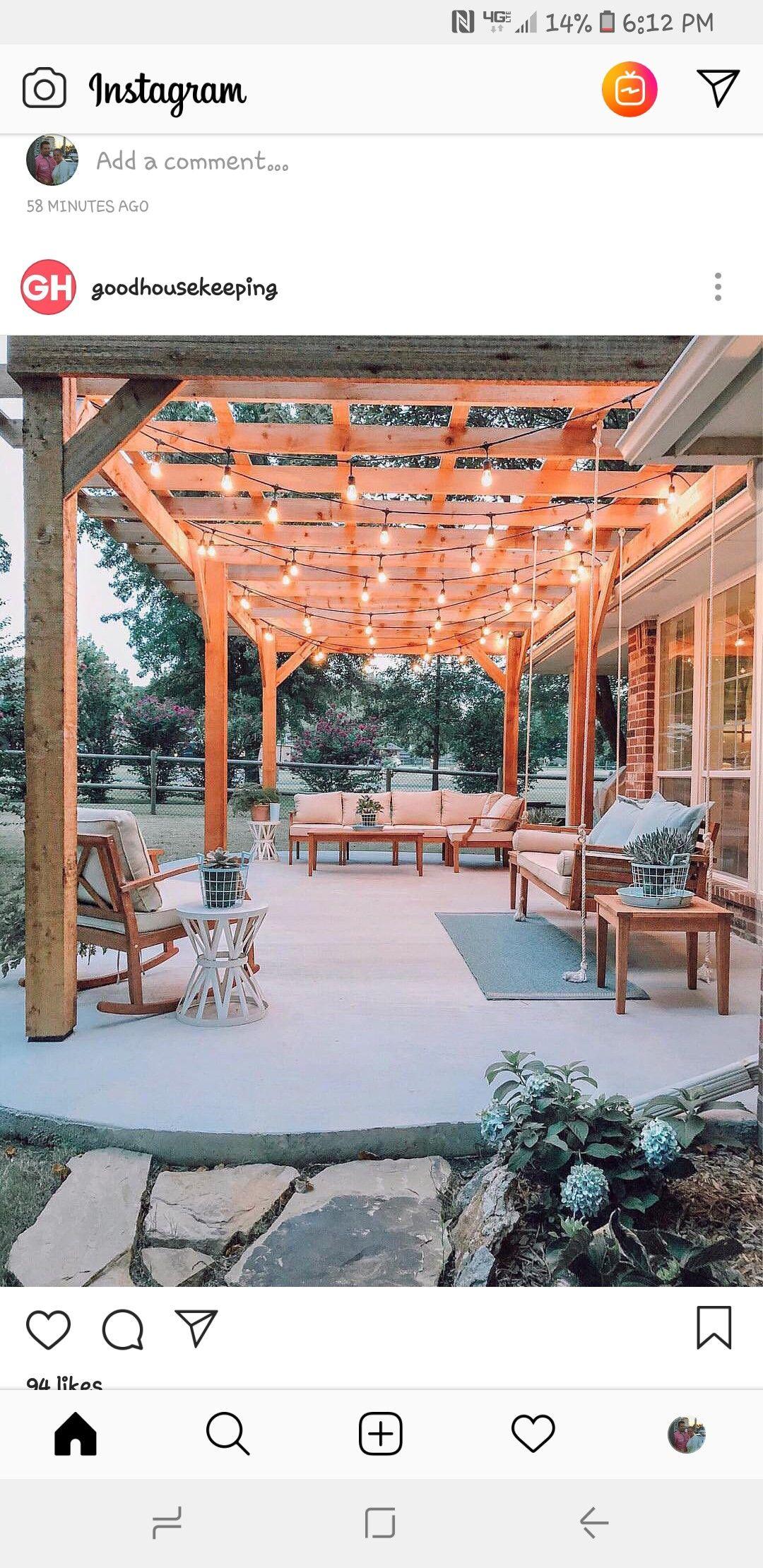 Dream Back Porch Backyard Backyard Inspo Backyard Patio Designs