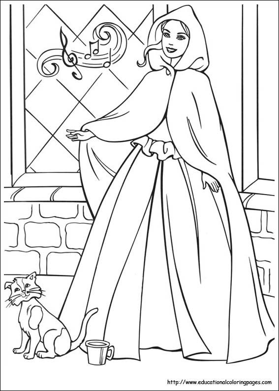 Barbie Princess And Pauper Coloring Pages