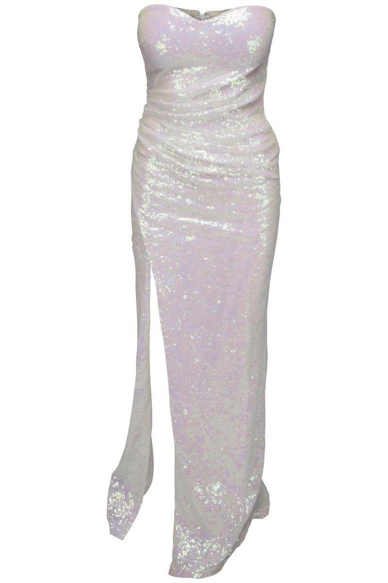 8fbe20e4561 Goddess - lang hvid paillet kjole | Fashion | Kjole, Kjoler