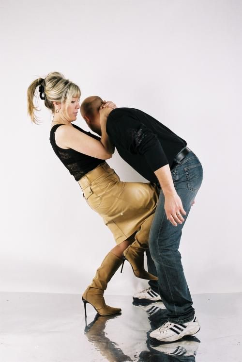 Woman Kicking Man In The Nuts
