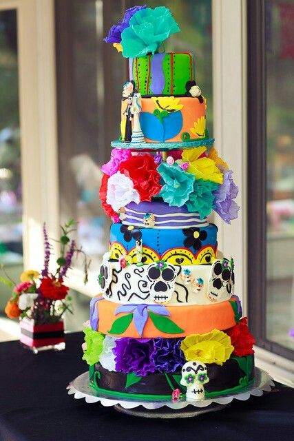 This cake has a little too much going on but I love how fun and ...