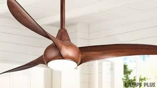 52 Minka Aire Light Wave Distressed Koa Ceiling Fan 4n706 Lamps Plus Minka Aire Light Wave Light Wave Ceiling Fan