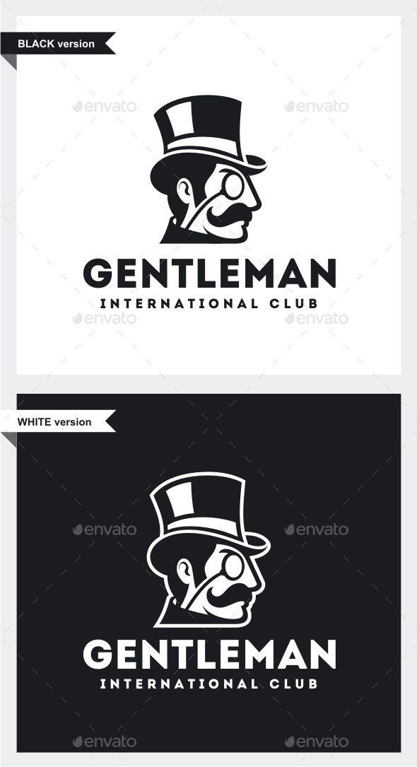 Gentleman Logo   Logo templates, Logos and Template
