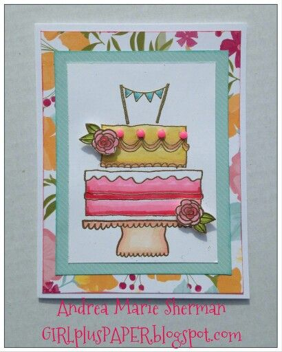 Andrea's Happy Times and Celebrate With Cake card