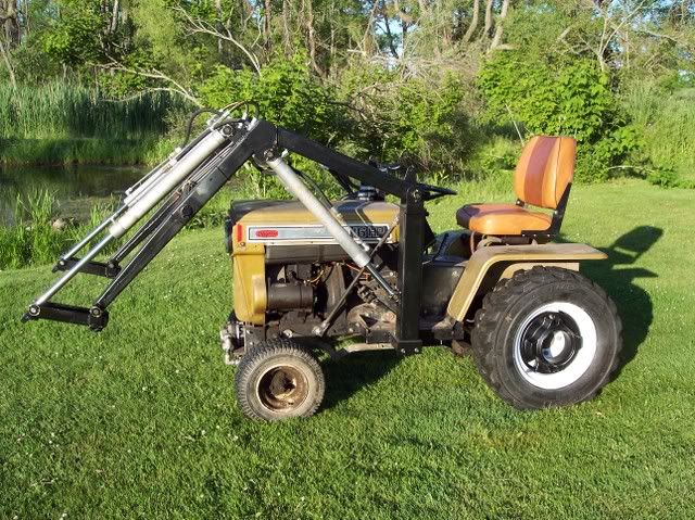 Used Garden Tractor Loaders : Homemade garden tractor loader tractors