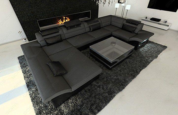 Fabric leather interior design enzo u shape grey amazon de küche