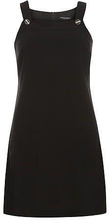 Womens black crepe pinny dress from Dorothy Perkins - £22 at ClothingByColour.com