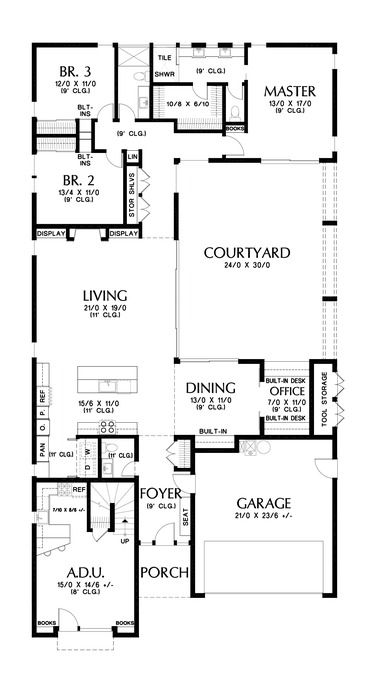 Contemporary House Plan 1260 The Alameda North 2947 Sqft 4 Beds 3 1 Baths