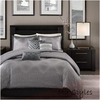 Photo of Mar 13, 2018 – Madison Park Crawford Grey 6-piece Duvet Cover Set