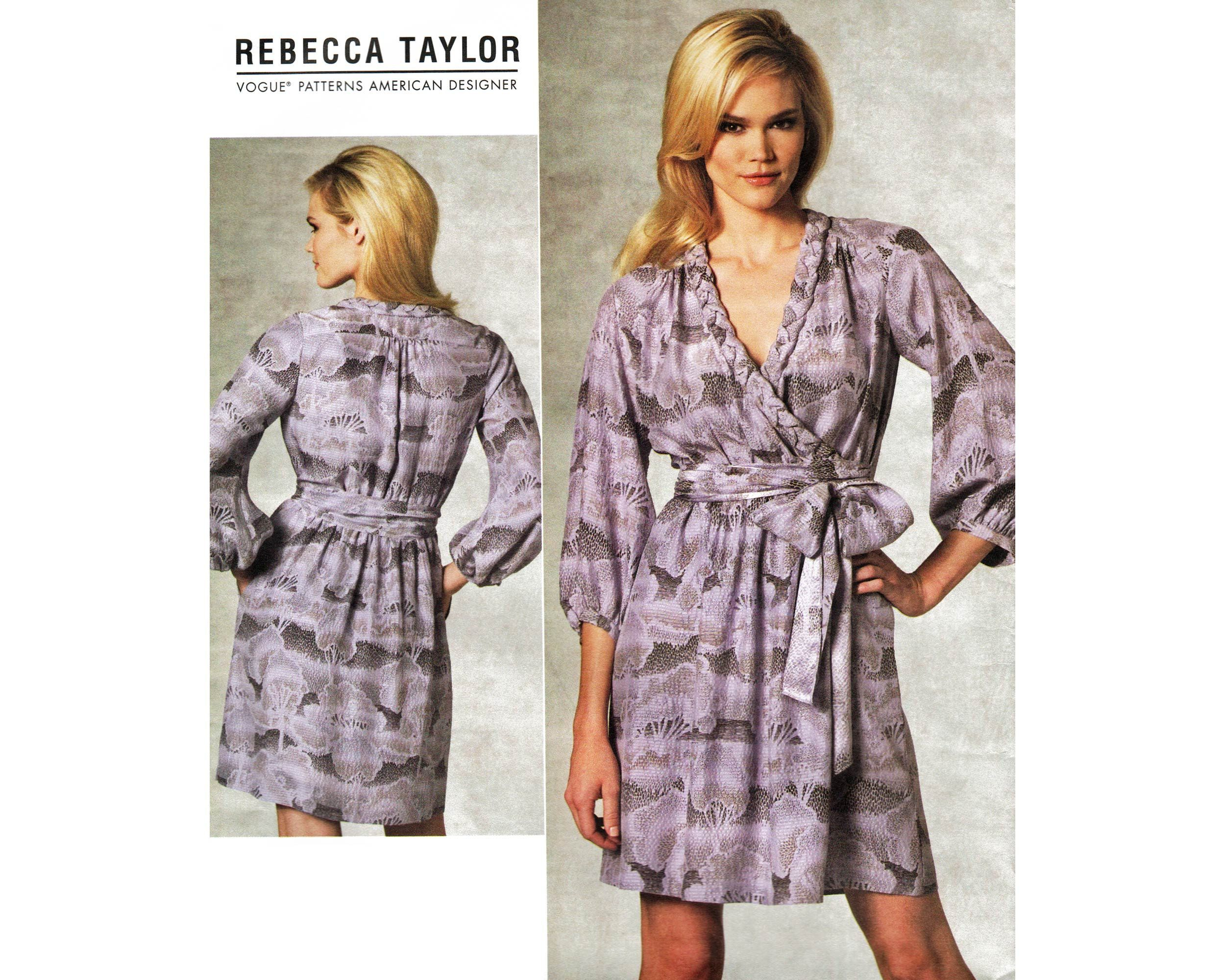 Vogue Pattern For Wrap Dress By Rebecca Taylor Easy Vogue Etsy Wrap Dress Pattern Dress Sewing Patterns Vogue Sewing Patterns [ 2000 x 2500 Pixel ]