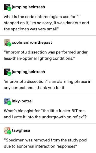 Tumblr Thread Captures The Stupid Realities Of Scientific Language