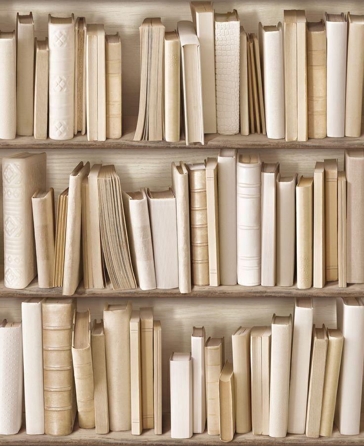 Colours Bookcase Wallpaper