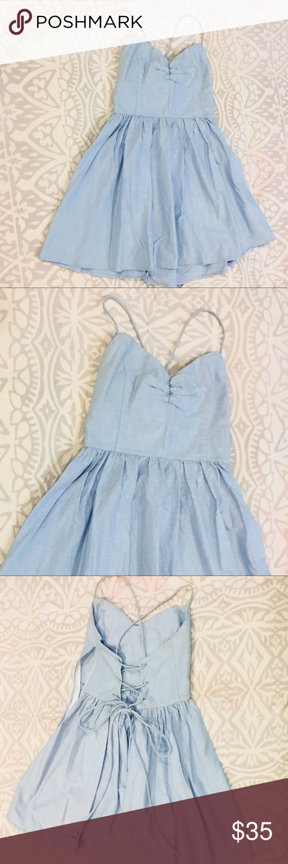 American Apparel Baby Blue Party Dress   Blue party dress, Blue ...