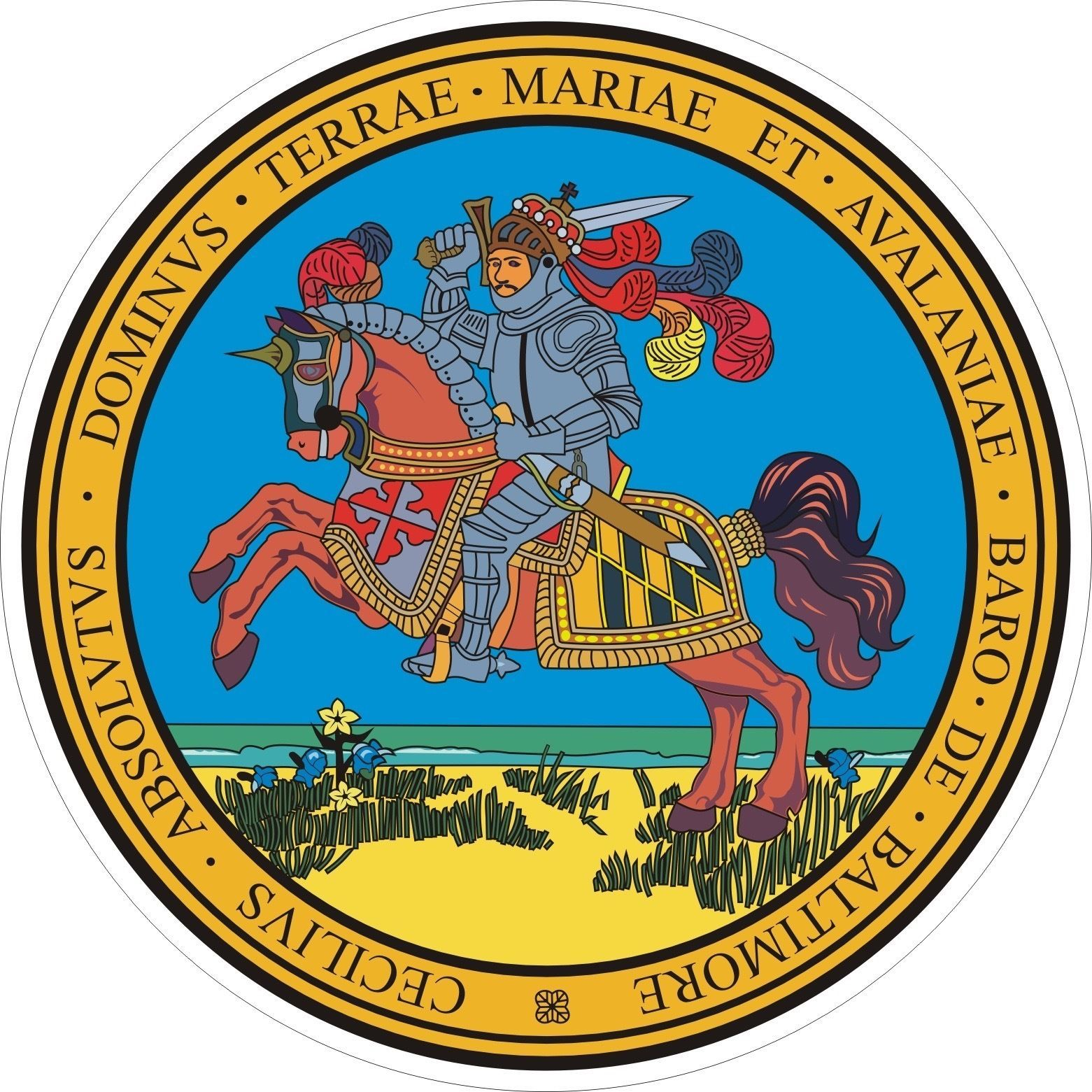 Maryland State Seal Vinyl Sticker Car Bumper Seal