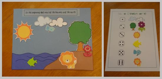 Nature and Bible Game Preschool Lesson Plan - such a cool idea to teach the creation days