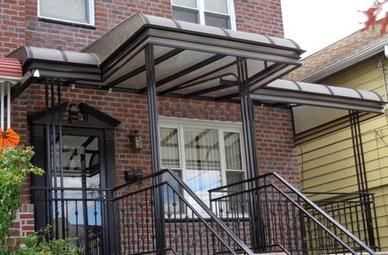 Plexiglass Home Awning Over A Patio In Queens New York Patio Awning Awning Awning Canopy