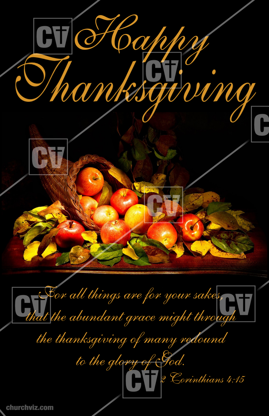 Share the holiday of Thanksgiving with your church