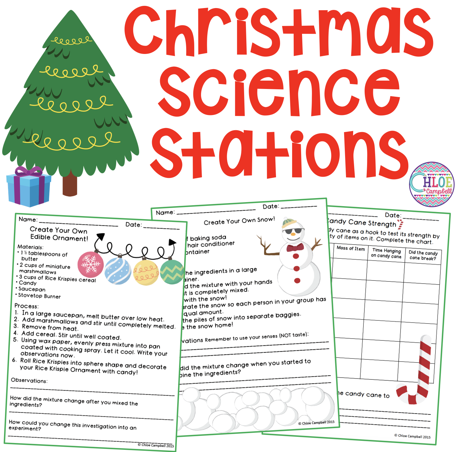 Christmas Science Station Activities | Science stations, Science ...
