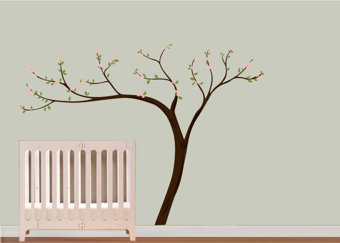 Blossoms And Leaves Wall Art Pottery Barn Style Nursery Wall Decals Kids Wall Decals