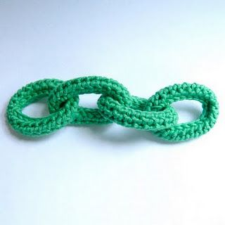 Crochet Chain Link Necklace Tutorial