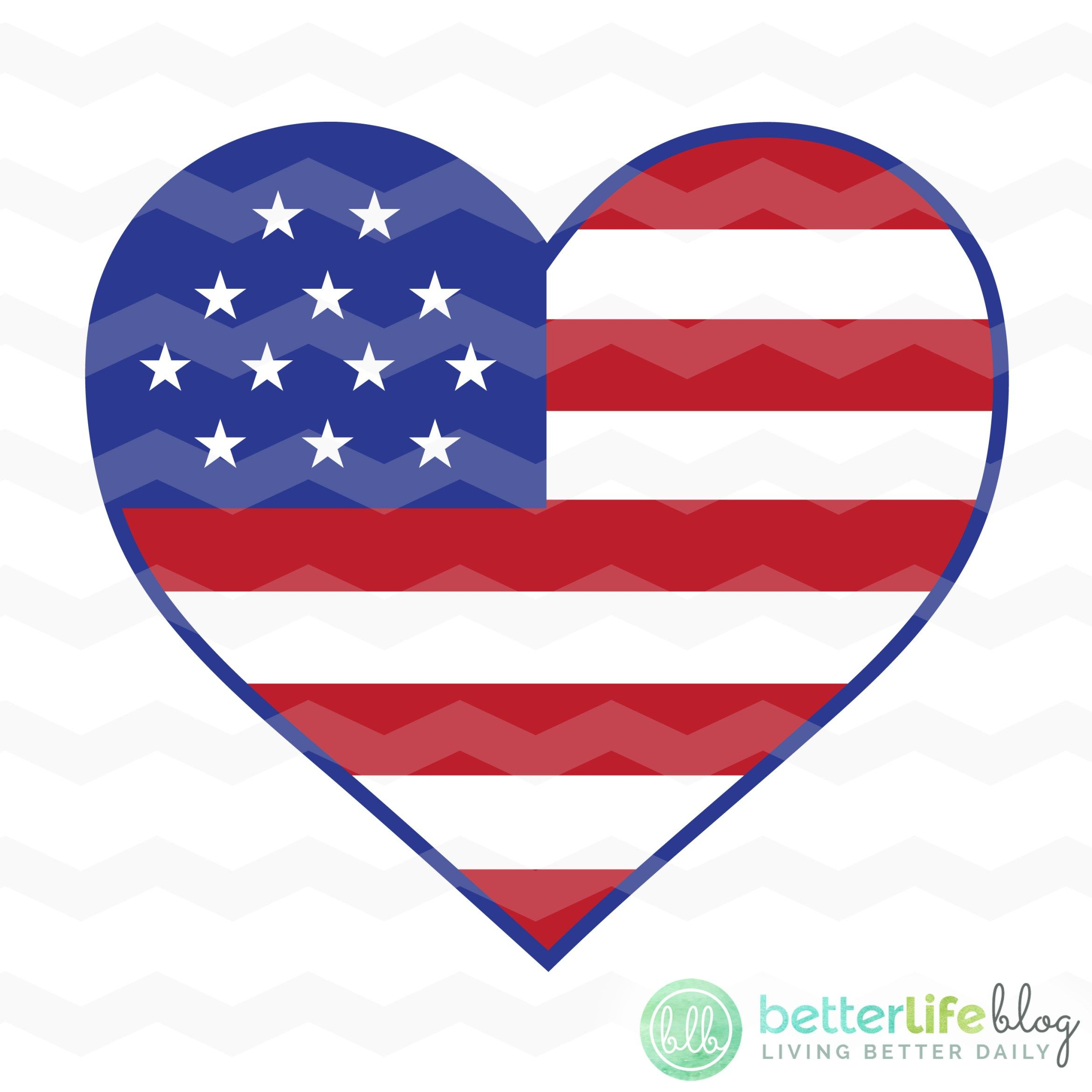 American Flag Heart SVG American flag, Silhouette cameo