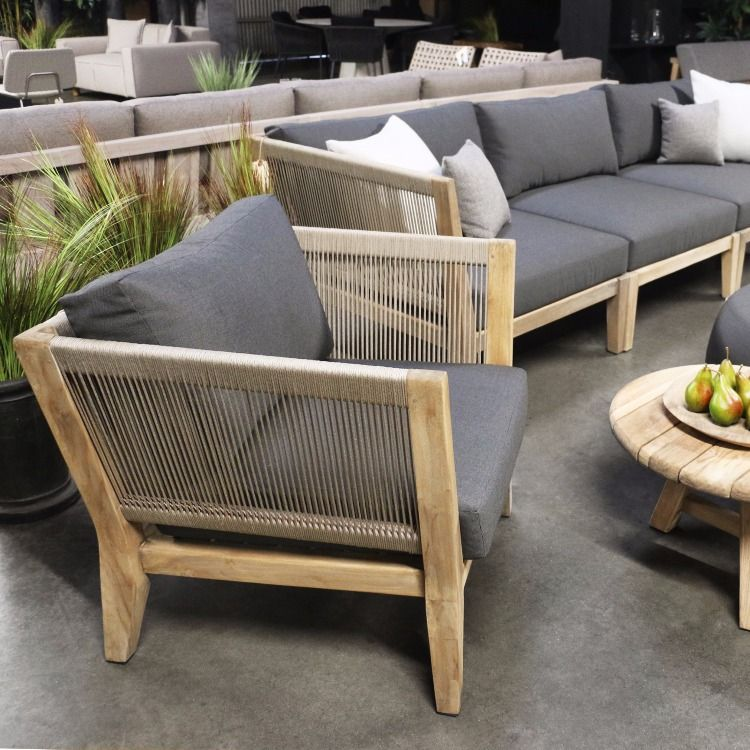 Expansive And Relaxing This Deep Seating Collection Is Made Of Reclaimed Teak Outdoor Furniture Teak Outdoor Furniture Outdoor Furniture Collections
