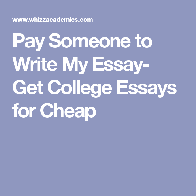 Pay someone to do your essays