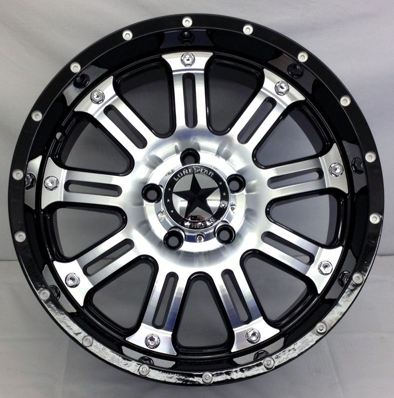 Lonestar 489 Mirror Black Wheels 20 Inch Dodge Truck Ram 1500 20