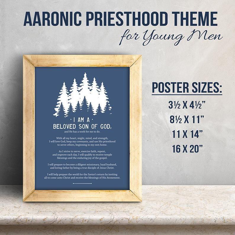 Aaronic Priesthood Quorum Theme Latter Day Saint Young Men Etsy Priesthood Latter Day Saints Son Of God
