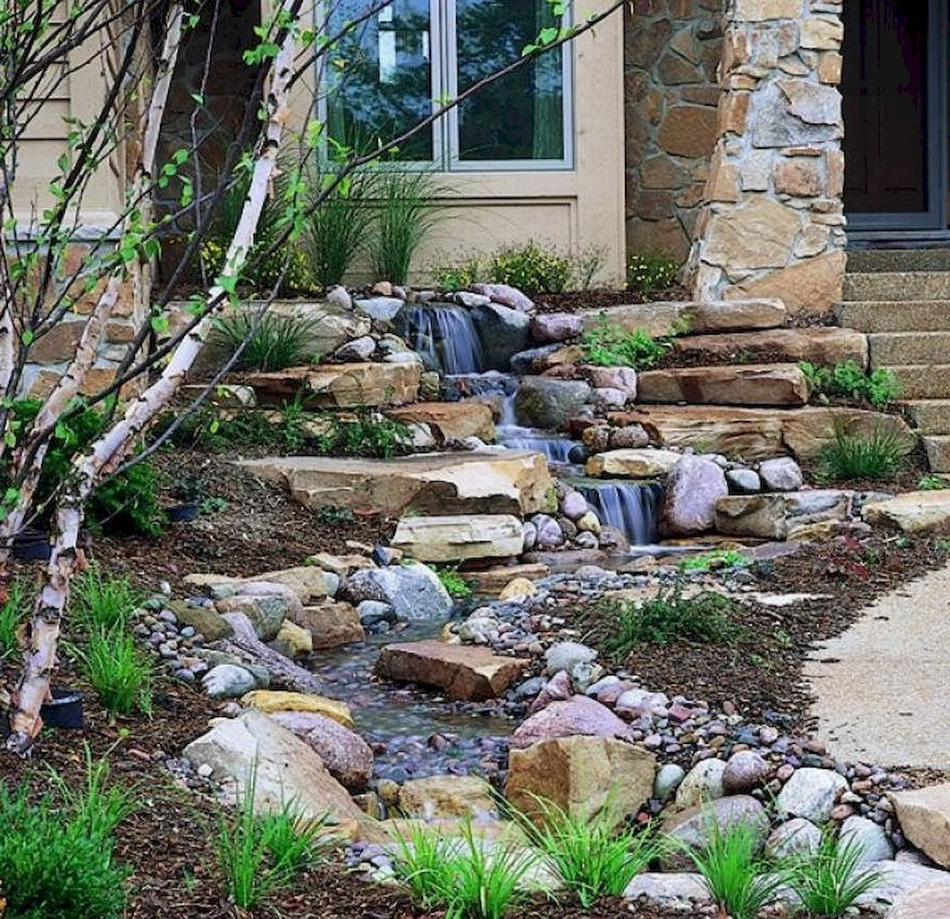 55 Small Backyard Waterfall Design Ideas | Waterfall design ...