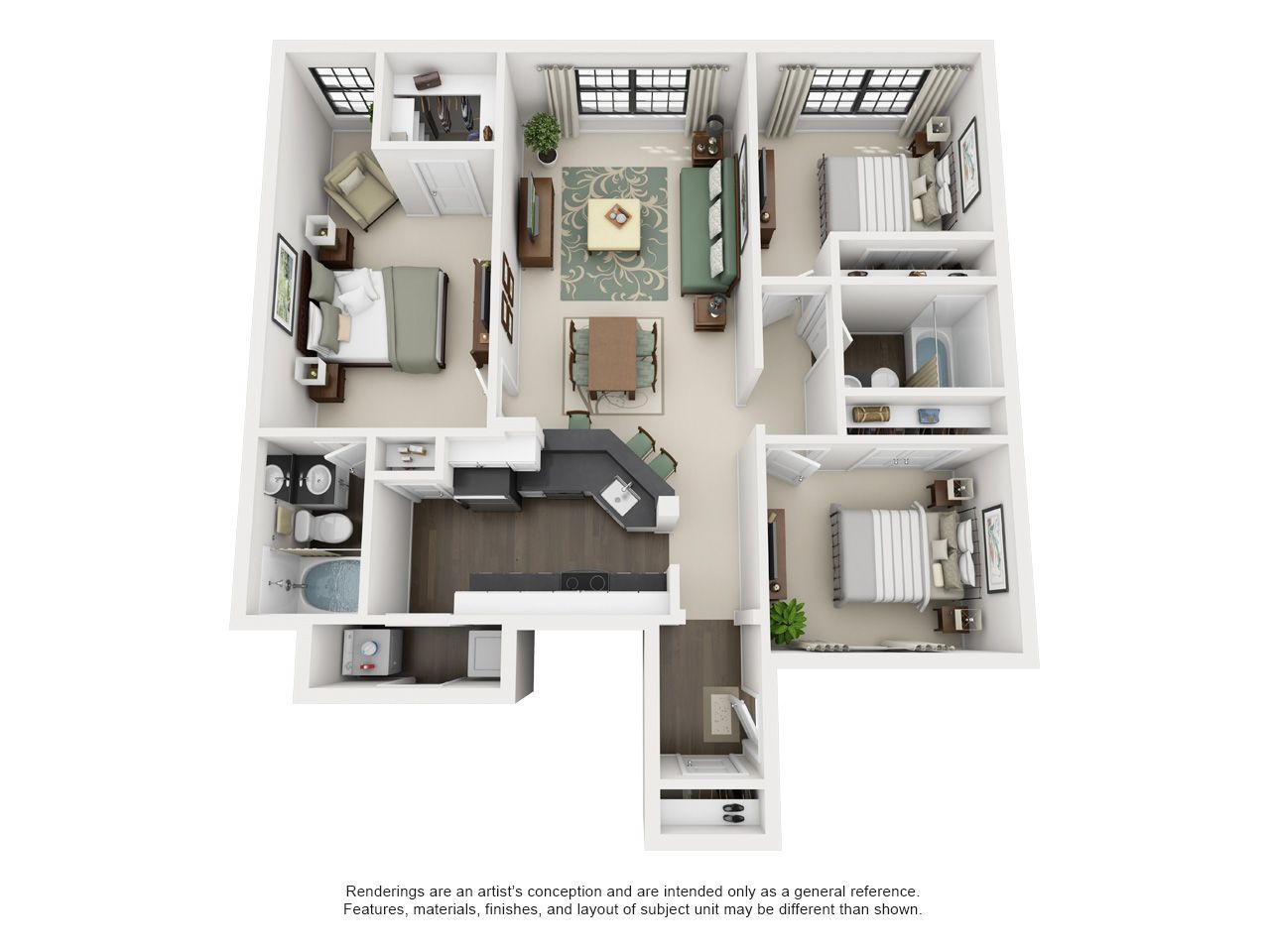 Can You Get An Apartment At 18 In Texas 1 2 3 Or 4 Bedroom Townhomes The Meadows At North Richland Hills Northrichlandhills Texas Ap Apartment Floor Plans Apartment Layout House Floor Plans