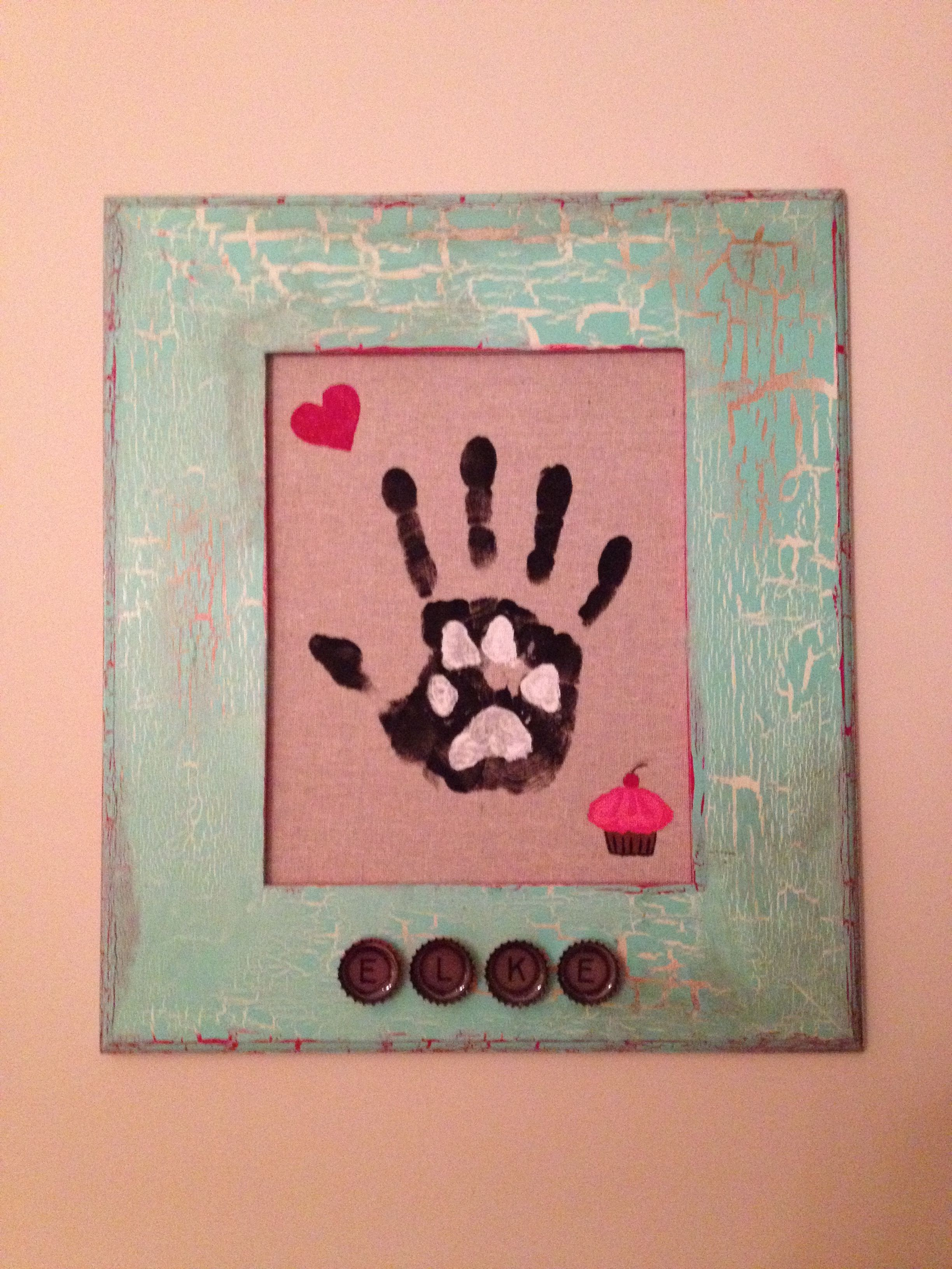Finished fur baby craft