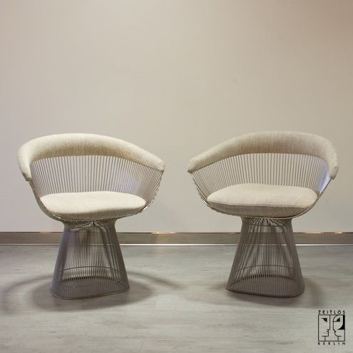 a91c5e5828f2 Pair of Warren Platner wirework dining chairs