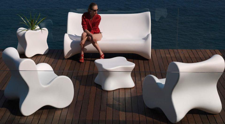 Vondom Salon De Jardin Au Design Singulie Blanc Possible De Le