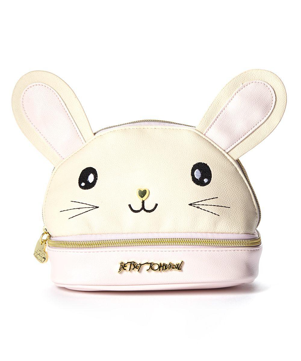 Blush Bunny Kitsch Cosmetic Case