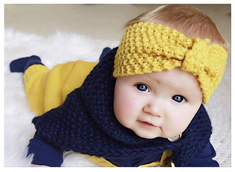 Crochet Infant Newborn Yellow Ducky Headband