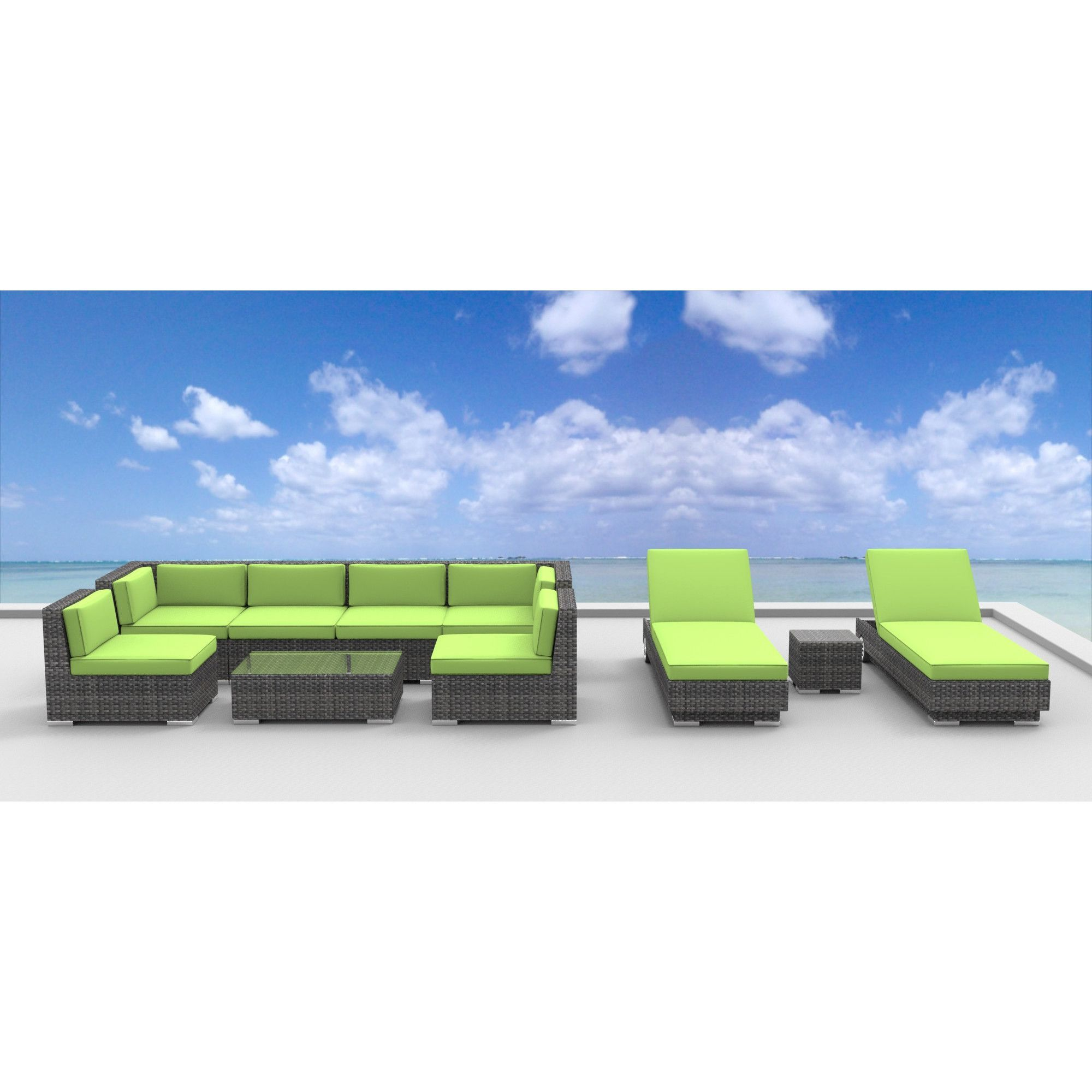Urban Sofa Barneveld Urban Furnishing Ibiza Wicker Rattan 10 Piece Outdoor Sectional