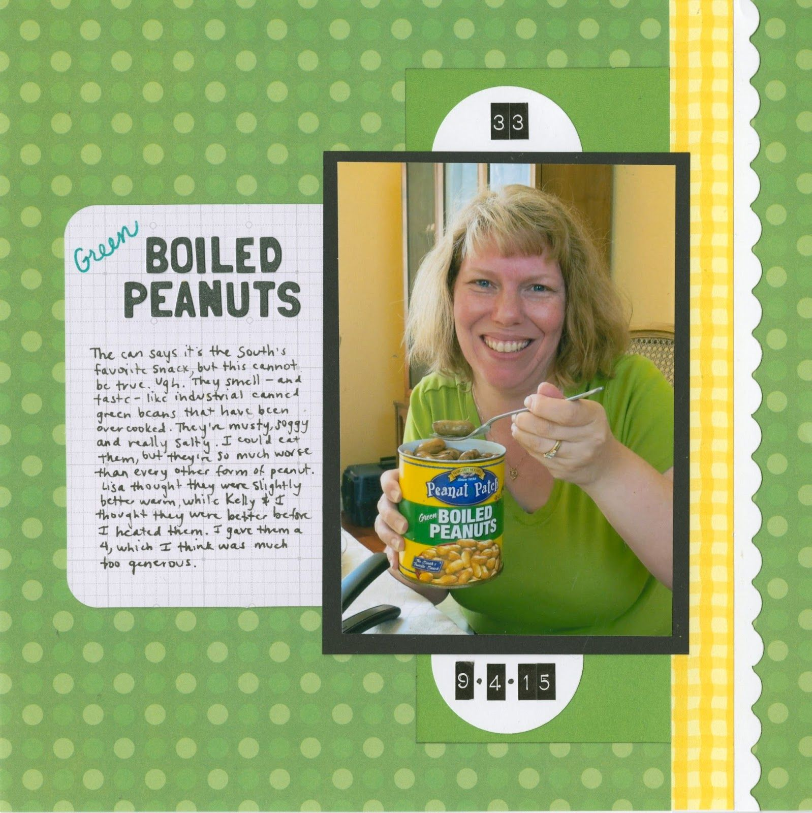 Cindy deRosier: My Creative Life: 43 New-to-Me ... #33 Green Boiled Peanuts