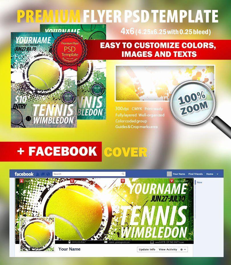 Tennis Flyer Template Free Lovely Tennis Wimbledon Psd