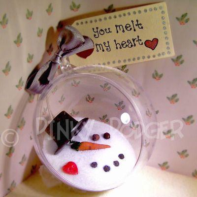 £6.75 Handmade Snowman Christmas Gift Bauble, You melt my heart
