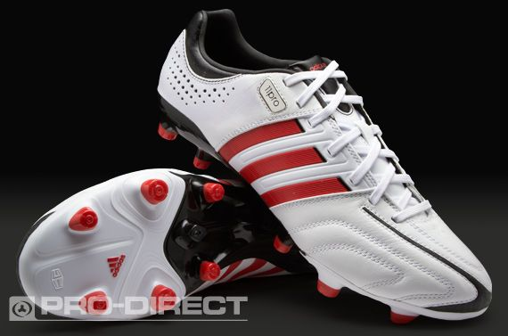 dd264827f adidas Football Boots - adidas adipure 11Pro TRX FG - Firm Ground - Soccer  Cleats - Running White-Vivid Red-Black